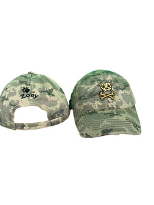 "Personalized Camo Hat With ""Charlie Style"" Logo"