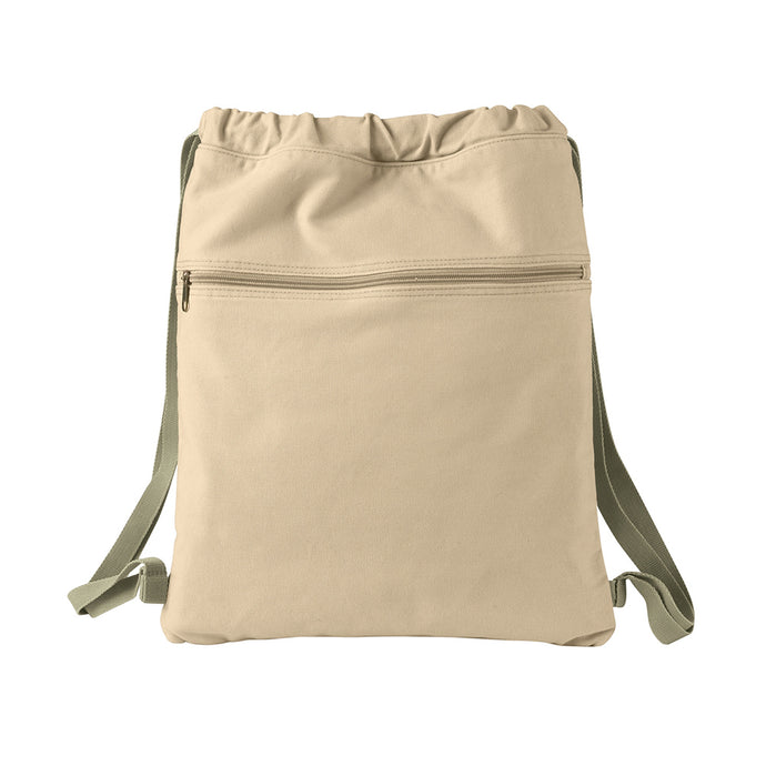 Authentic Pigment Canvas Cinch Sack