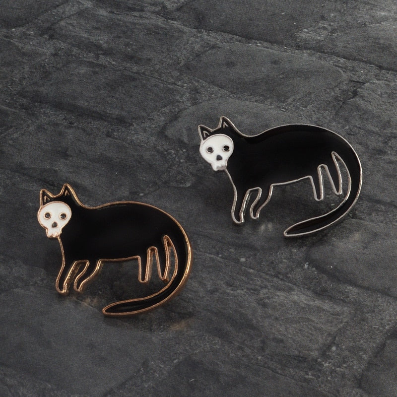 SKELECAT - Enamel Pin