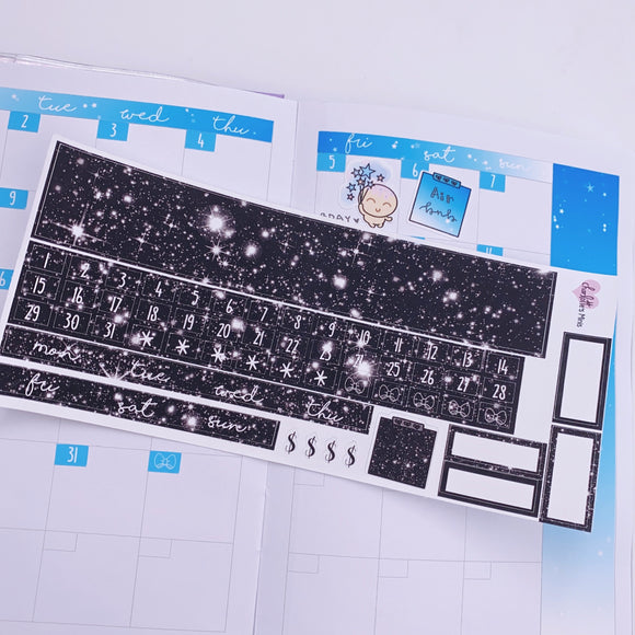PP B6 - Monthly Kits - Monochrome Galaxy
