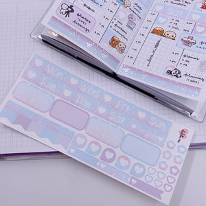 PP B6/Weeks Vertical Planner- Essential Kits - Pastel Galaxy