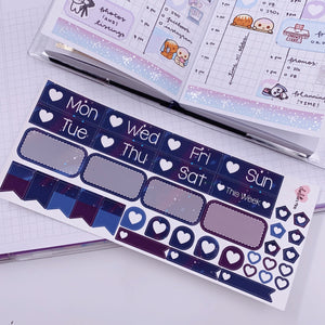 PP B6/Weeks Vertical Planner- Essential Kits - Dark Sky