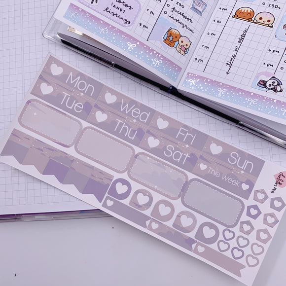 PP B6/Weeks Vertical Planner- Essential Kits - Grey Clouds