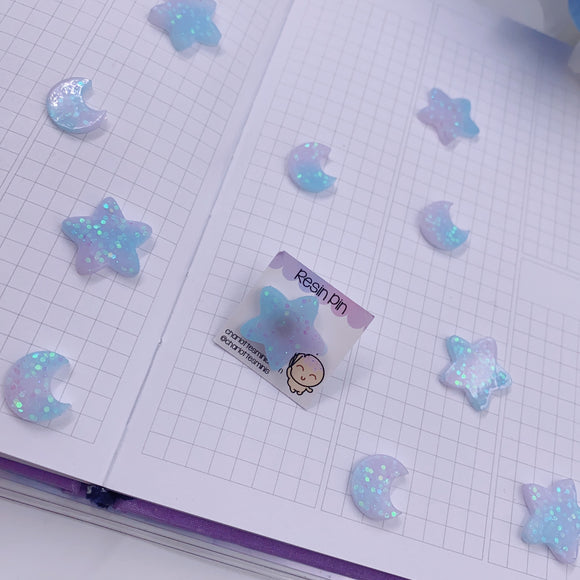 Planner Accessories - Resin Pins - Pastel Galaxy Star