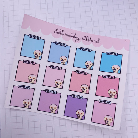 Planner Minis - Sugee - BubbleTea Sticky Note
