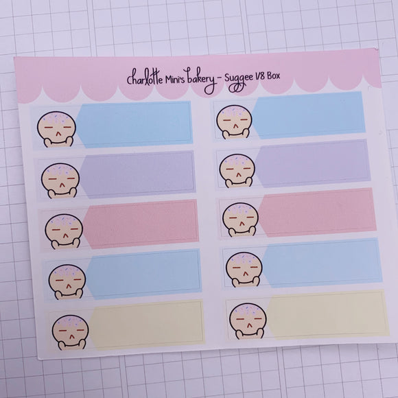 Planner Minis - Sugee - Annoyed Sugee 1/8 Box Pastel