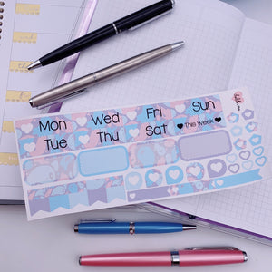 PP B6/Weeks Vertical Planner- Essential Kits - Pastel Ghosts