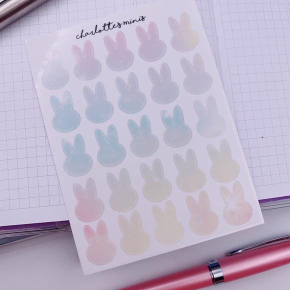 Clear Essentials - Rainbow Galaxy  - Bunny