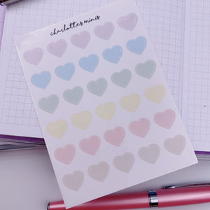 Clear Essentials - Pastel - Hearts