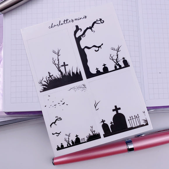 Planner Midis - Spooky Clear Boxes
