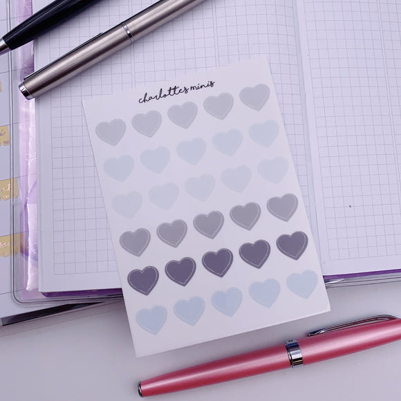Clear Essentials - Cool Neutrals - Hearts