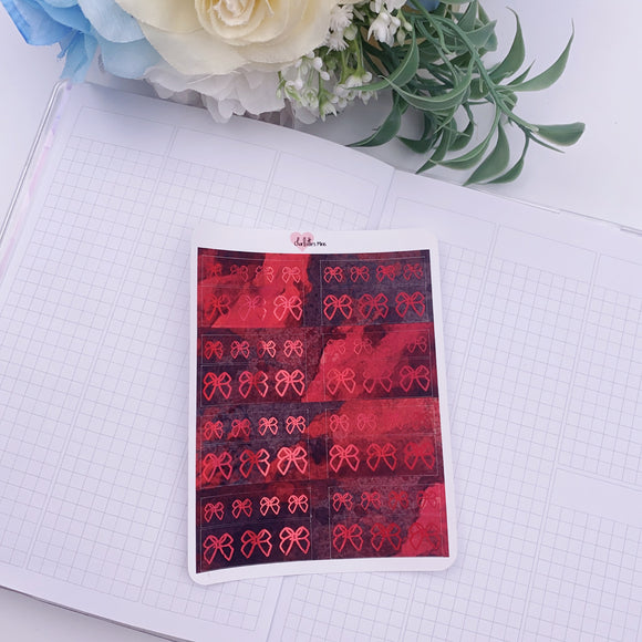 Planner Midis - Foiled Washi Strips (Bloody Murder, Holo Red Foil)