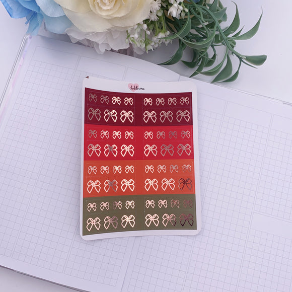 Planner Midis - Foiled Washi Strips (Autumn, Rose Gold Foil)