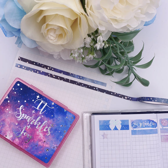 Planner Accessories - Navy Galaxy (5mm)