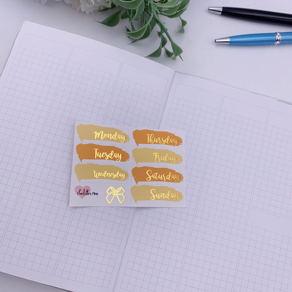 Foiled Stickers - Date Covers - Candy Corn(Gold Foil)