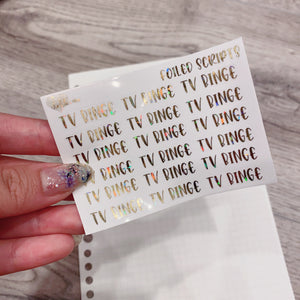 Foiled Friday - Clear Foiled Scripts - TV Binge