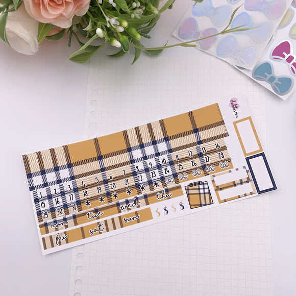 PP B6 - Monthly Kits - Beige Plaid