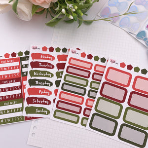 Vertical Planner- Essential Kits - Traditional Christmas