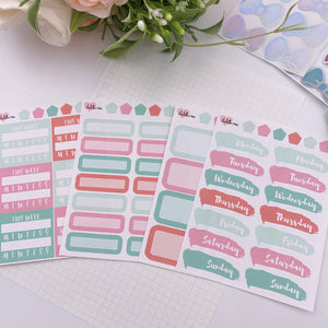 Vertical Planner- Essential Kits - Peppermint Swirl