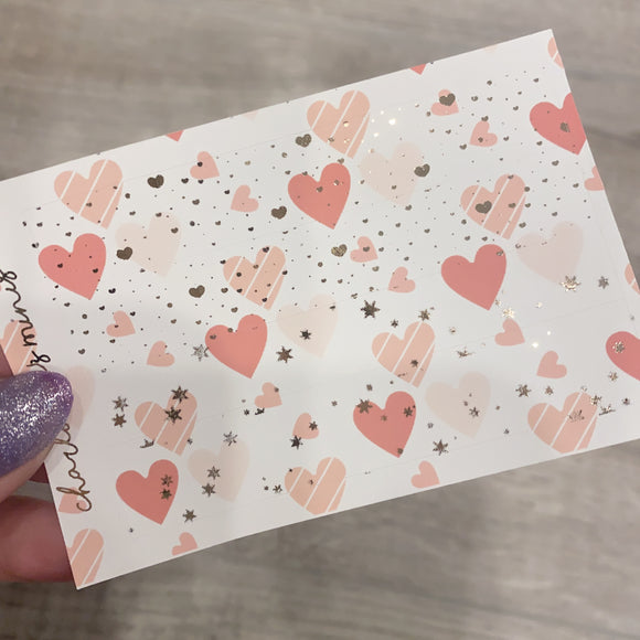 $2 Tuesday - Pink Hearts - PP Weeks Bottom Washi