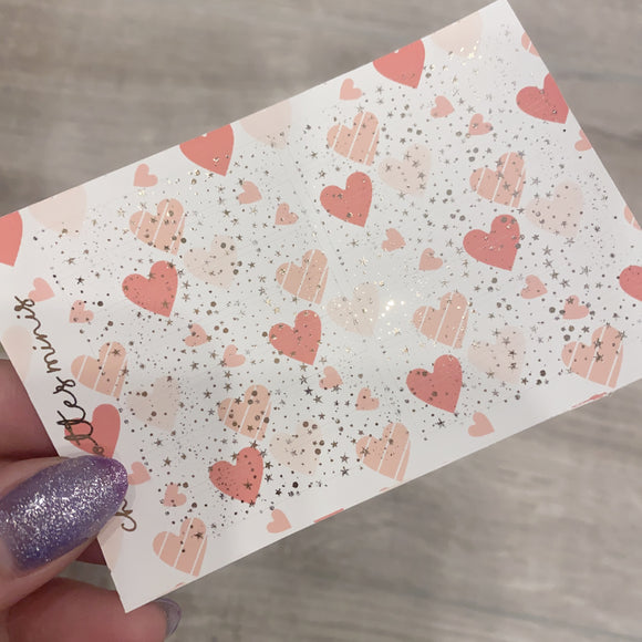 $2 Tuesday - Pink Hearts - Sparkle Headers