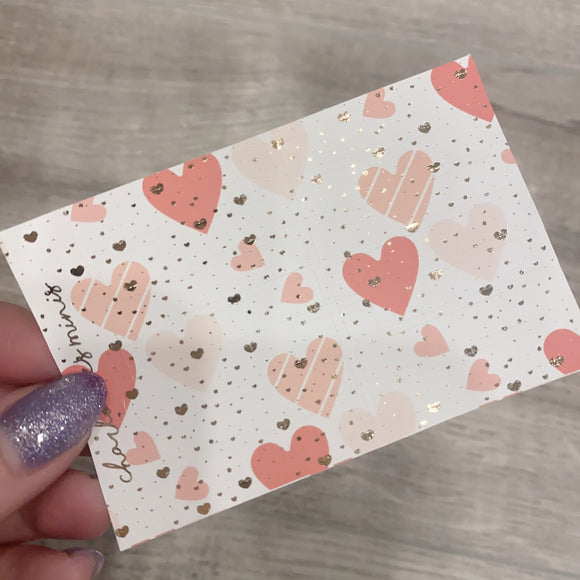 $2 Tuesday - Pink Hearts - Mini Flags