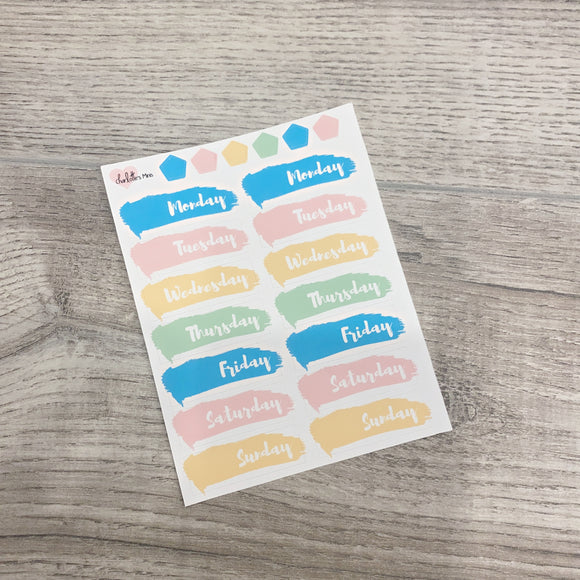 $2 Tuesday - Vertical Planner- Essential Kits - Candy Hearts - Date Covers