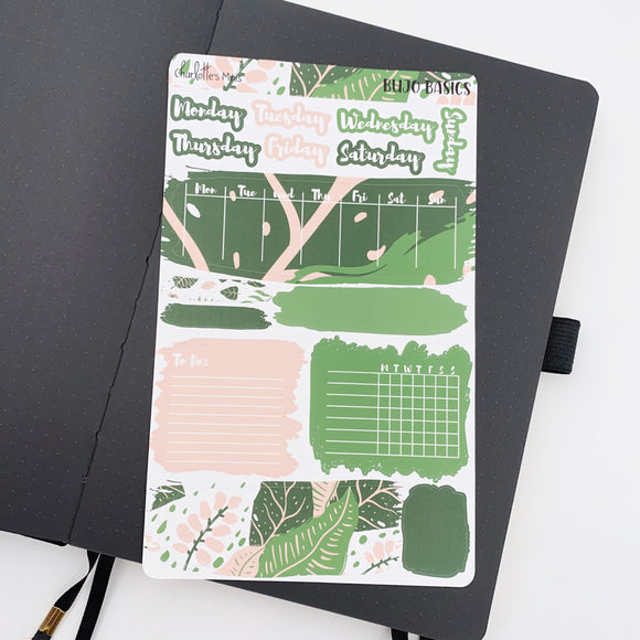 Bujo Weekly Kits - Spring Plants - Swatches