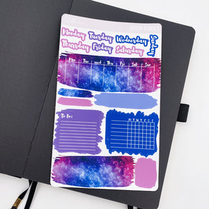 Bujo Weekly Kits - Galaxy - Swatches