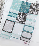 Planner Mini kits-SILVER foiled Let it Snow