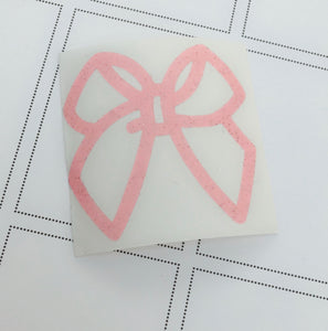 Pink Jelly Bow Decal (Type 1)