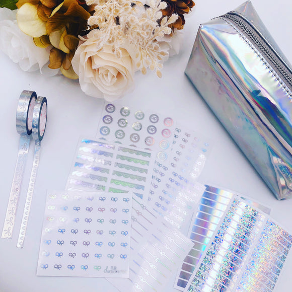 Planner Midis - Clear Foiled Bow Lover Bundle