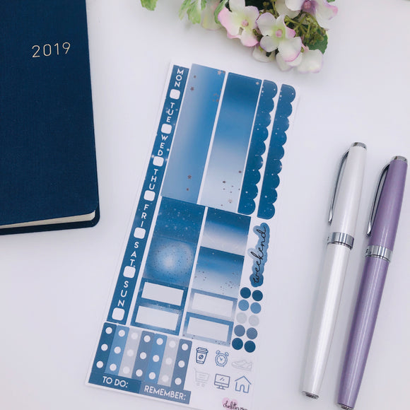Hobonichi Weeks - Weekly Kits - Blue Galaxy