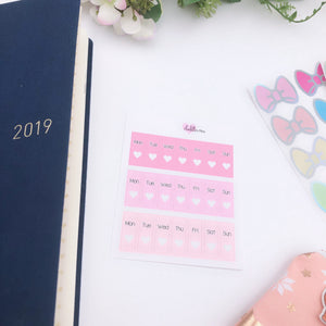 Hobonichi Weeks - Date Covers - Pinks