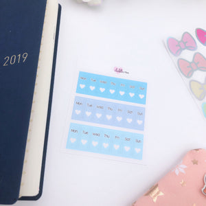 Hobonichi Weeks - Date Covers - Blues