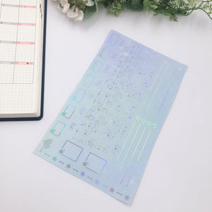 Hobonichi Weeks - Monthly Kits - Icy Blue Galaxy (Holo Foiled)