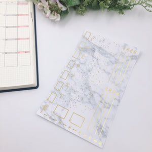 Hobonichi Weeks - Monthly Kits - Marble ( Gold Foiled)