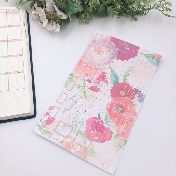 Hobonichi Weeks - Monthly Kits - Florals (Rose Gold Foiled)
