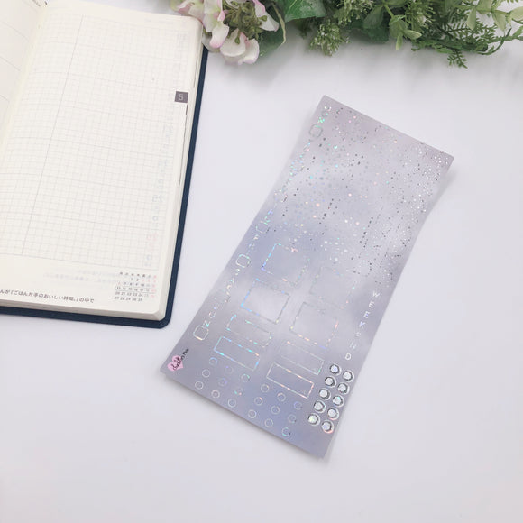 Hobonichi Weeks - Weekly Kits - Grey Sky (Holo Sparkle Foiled)