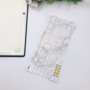 Hobonichi Weeks - Weekly Kits - Marble (Gold Foiled)