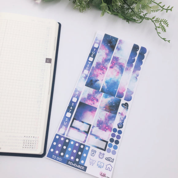 Hobonichi Weeks - Weekly Kits - Purple Galaxy