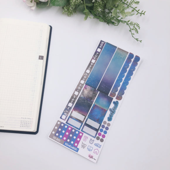 Hobonichi Weeks - Weekly Kits - Blue Grey Galaxy