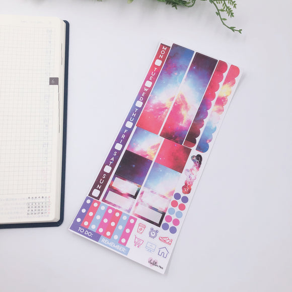 Hobonichi Weeks - Weekly Kits - Red Galaxy