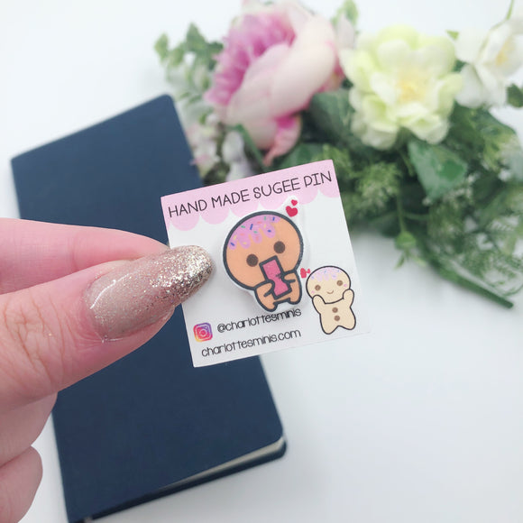 Planner Accessories - Resin Pins - Sugee Loves Hobonichis