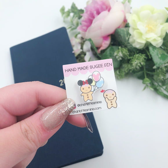 Planner Accessories - Resin Pins - Sugee In Mouse Ears
