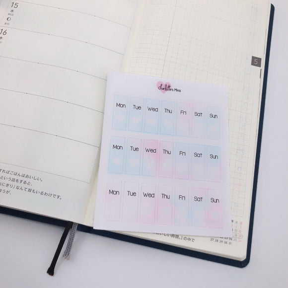 Hobonichi Weeks - Date Covers - Cotton Candy