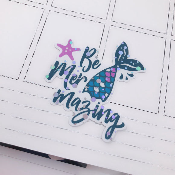 Mer-Mazing Holographic Die Cut