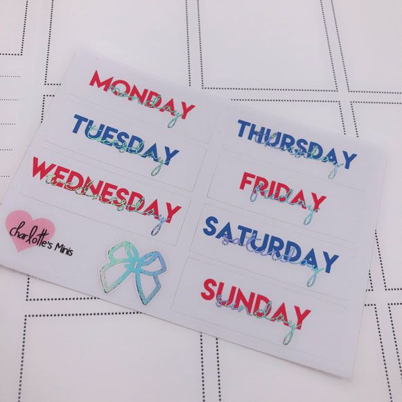 Foiled Stickers - Date Covers -USA (Holo Foil)