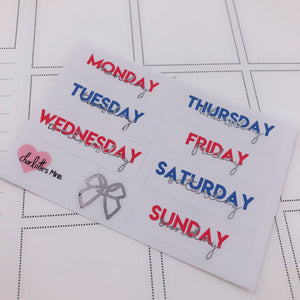 Foiled Stickers - Date Covers -USA (Silver Foil)