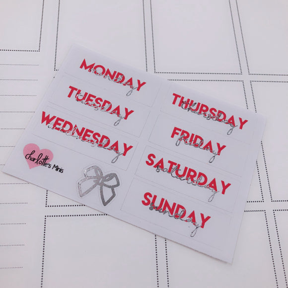 Foiled Stickers - Date Covers -Canada (Silver Foil)